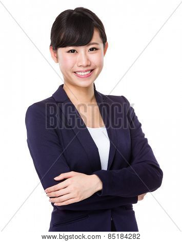 Formal Asian Business woman with crossed arms