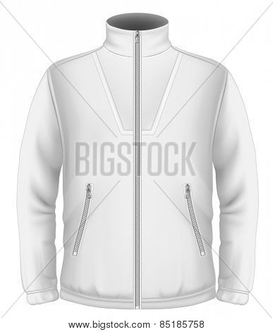 Men's fleece sweater. Vector illustration