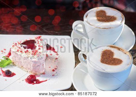 tasty heart shaped valentine cake