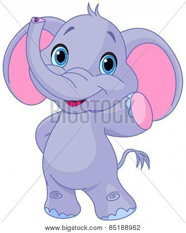 Illustration of very cute elephant