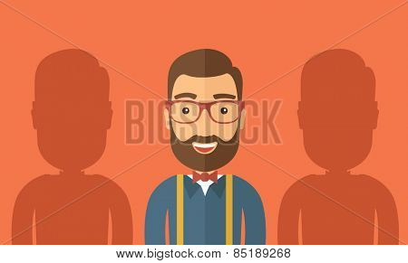 The best employee concept. Vector flat design Illustration.