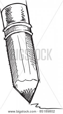 Doodle Sketch Pencil Vector Illustration Art