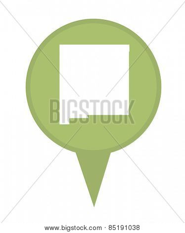 American state of New Mexico marker pin isolated on a white background.