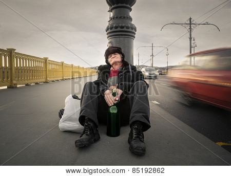 Man sitting on the ground