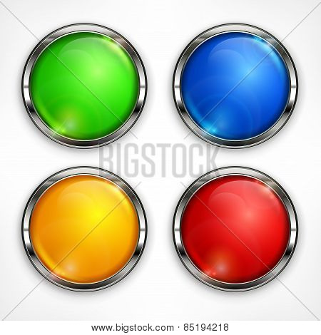Color Circles On White