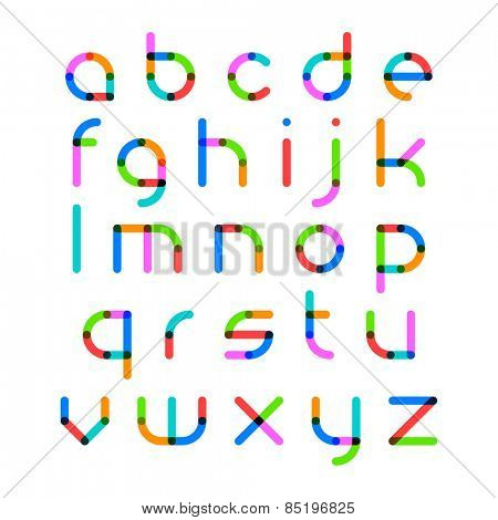 Bright alphabet. Vector.
