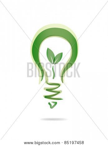 Digitally generated Energy saving light bulb vector