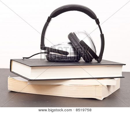 Listening To Books ( Audio Book Concept )