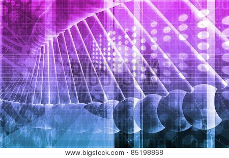Medical Genetics or Genetic DNA Abstract Image