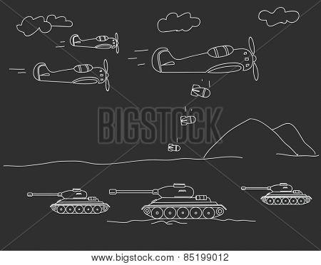 World war illustration