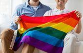 picture of gay flag  - people - JPG
