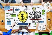 pic of insurance-policy  - Multiethnic  People Meeting Safety Risk Business Insurance Concept - JPG