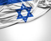 foto of israeli flag  - Israeli waving flag on white background - JPG