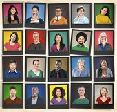 image of human face  - People Diversity Faces Human Face Portrait Community Concept - JPG