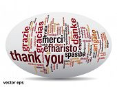 foto of appreciation  - Vector concept or conceptual abstract thank you word cloud in different languages or multilingual for education or thanksgiving day - JPG
