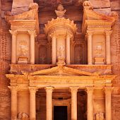 stock photo of treasury  - Treasury in Petra  - JPG