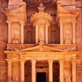 stock photo of treasury  - Treasury in Petra  - JPG