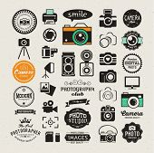 stock photo of flashing  - Photography vintage retro icons - JPG