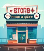 pic of grocery store  - Grocery store facade - JPG