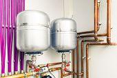 foto of boiler  - expansion tanks in boiler - JPG