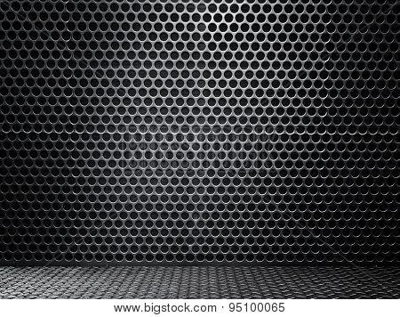 Black Metal Wall Texture