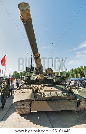 Modernized tank T-80. Russia
