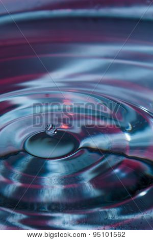 Blue and magenta water drop