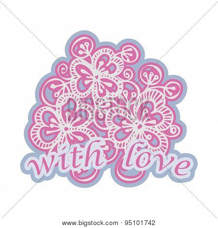 vector design greeting card with flowers
