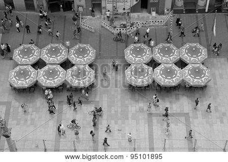 Marienplatz With Pedestrians