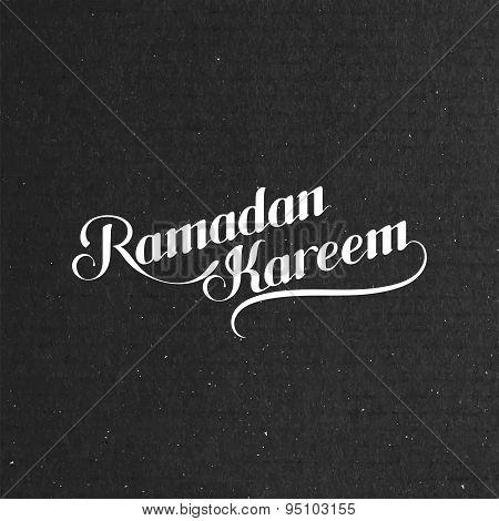 handwritten Ramadan Kareem retro label
