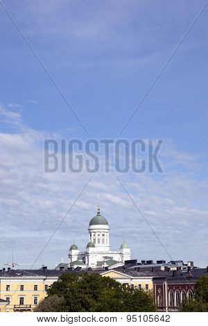 Helsinki Cathedral Towers Above City Centre
