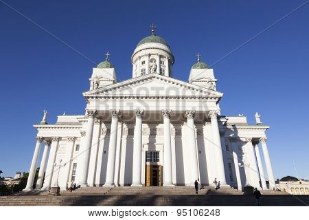 Helsinki Cathedral With Blue Sky