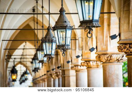 Passage With Row Of Lamps