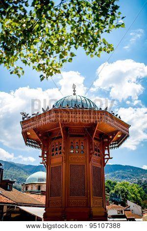 Historical fountain in Sarajevo