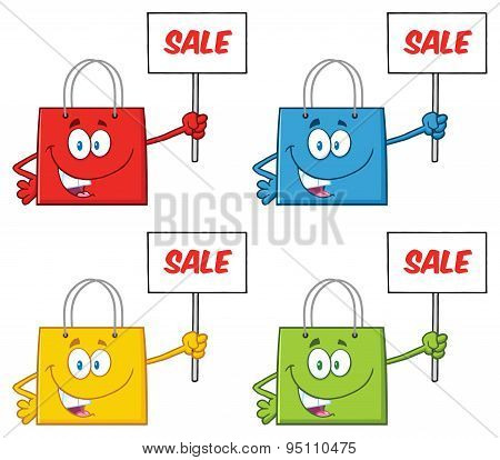 Shopping Bags . Collection Set