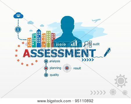 Assessment Concept And Business Man.