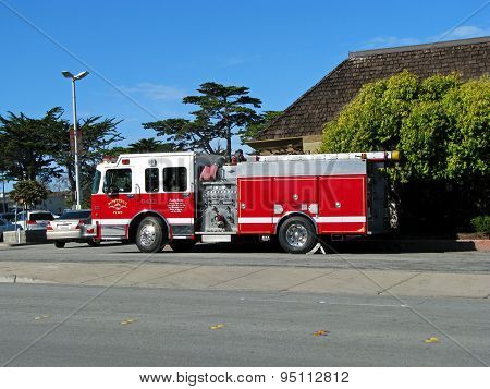 MONTEREY, CA - NOVEMBER 14:  Monterey Fire Department Engine 6412 Truck  2012