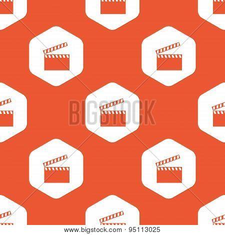 Orange hexagon clapperboard pattern