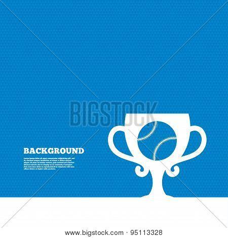 Baseball sign icon. Winner award cup symbol.