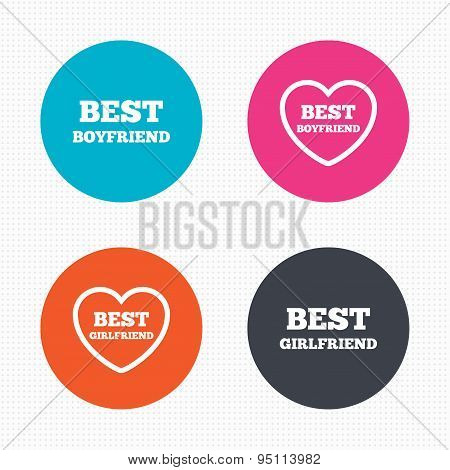 Best boyfriend and girlfriend icons.