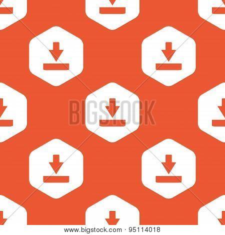 Orange hexagon download pattern
