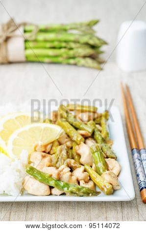 Chicken Asparagus Lemon Stir Fry