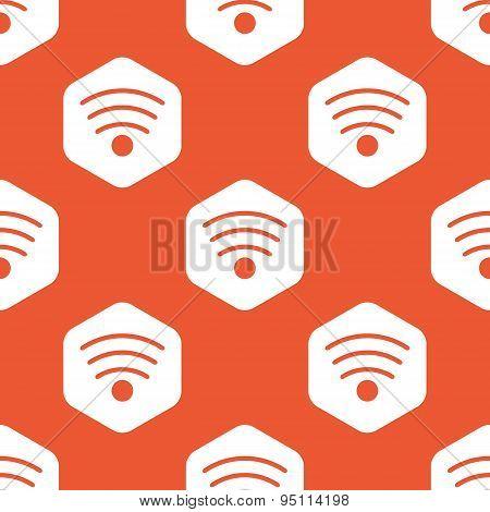 Orange hexagon Wi-Fi pattern