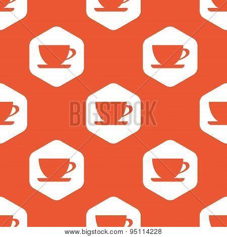 Orange hexagon cup pattern