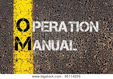 Business Acronym Om As Operation Manual