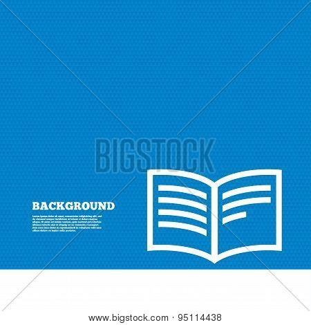 Book sign icon. Open book symbol.