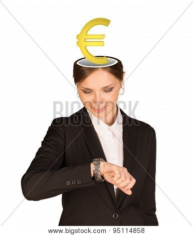 Businesslady with euro sign