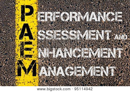 Business Acronym Paem As Performance Assessment And Enhancement Management