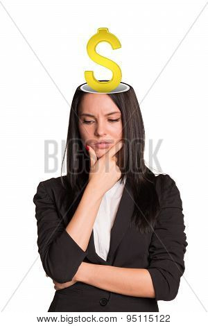 Businesslady with dollar sign