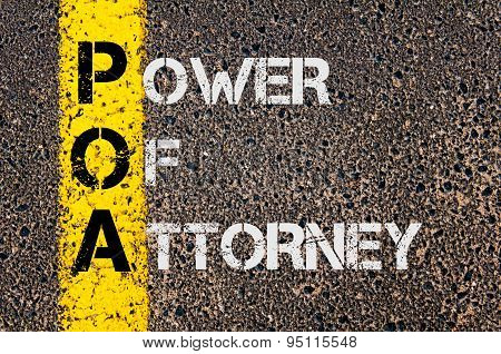 Business Acronym Poa As Power Of Attorney
